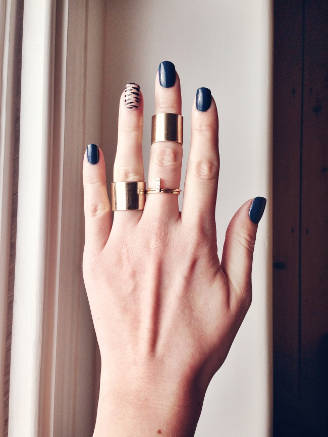 Nails of the day: Eye of the Tiger