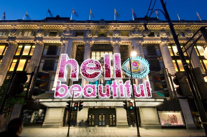 Selfridges Beauty Project_Hello Beautiful Neon Canopy